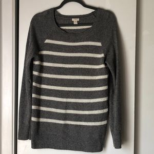 J. Crew Factory thermal striped sweater size m